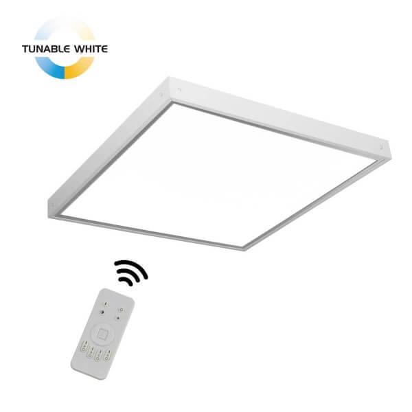 Tunable White LED Panel 45W mit Aufputz-Rahmen