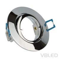 Einbaurahmen aus Aluminium - chrom Optik rund glänzend - schwenkbar