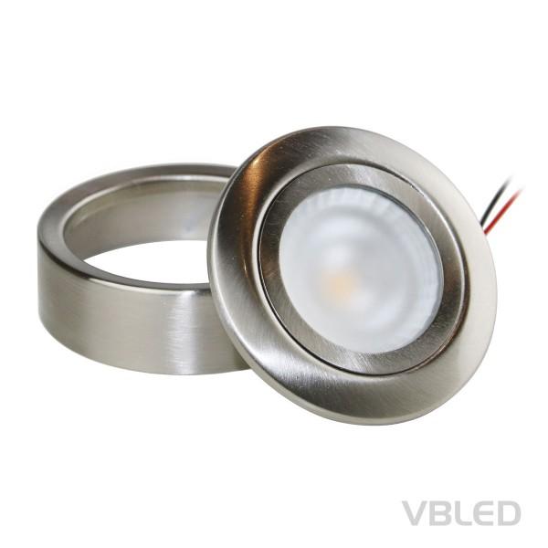 LED-Schrank-Küchen-Unterbau-Leuchte, Edelstahl gebürstet, 12V, 3.5W, warm weiß
