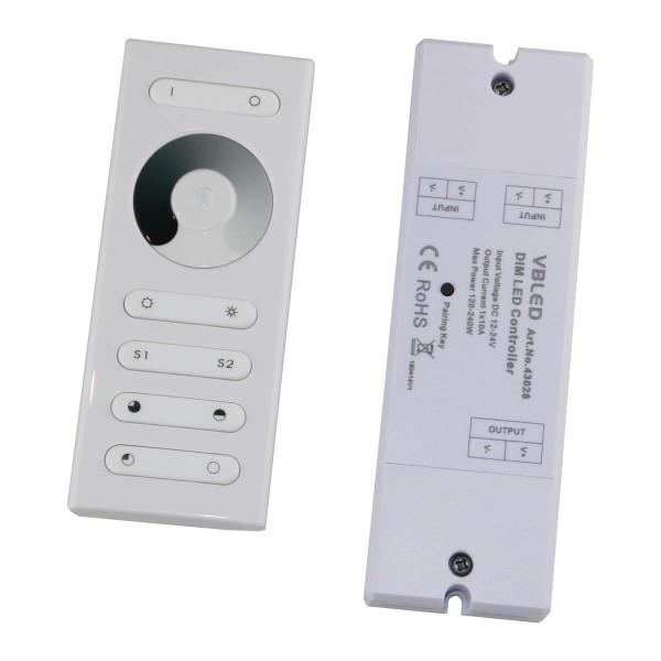 VBLED LED RF Dimmer mit Fernbedienung für einfarbige LEDs 12-24V DC