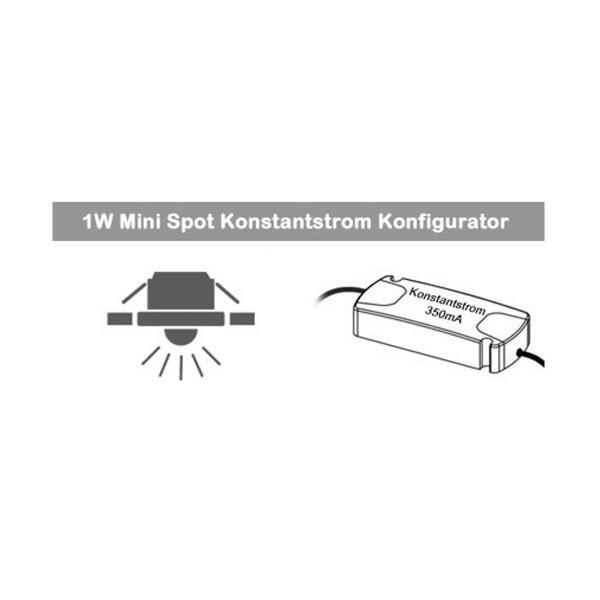 1W Mini Spot Konstantstrom Konfigurator