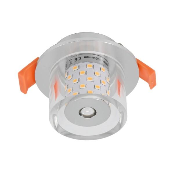 LED Einbauleuchte mit G4 Leuchtmittel 12V 4W 3000K 300Lumen