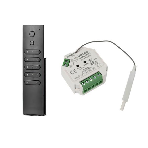 ZigBee 3.0 Unterputz Dimm-Aktor Dimm-Schalter mit Fernbedienung für 230V max. 200W LED 400W Halogen