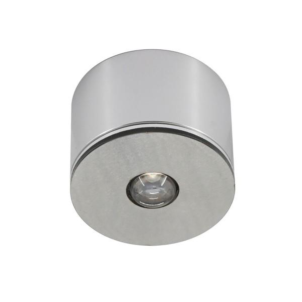3W LED Mini Einbaustrahler / Mini Spot / Decken-Aufbau-Spot - Alu, IP65, 3000K