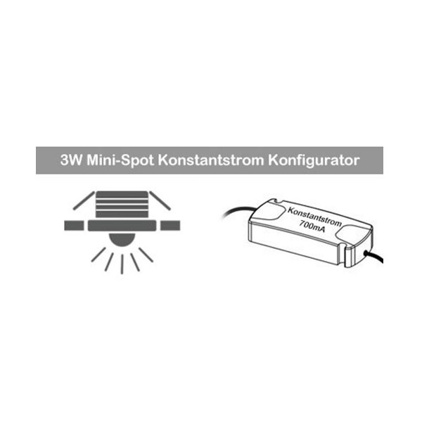 3W Mini Spot Konstantstrom Konfigurator