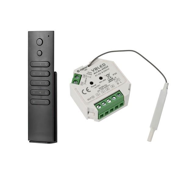 ZigBee 3.0 Unterputz Dimm-Aktor Dimm-Schalter (ohne Neutralleiter) mit Fernbedienung für 230V