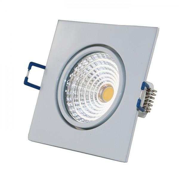 LED COB Einbaustrahler - eckig - weiß - glänzend - 7W