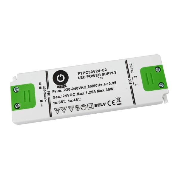 LED-Netzteil Konstantspannung, 30W, 24 V DC, 1,25 A