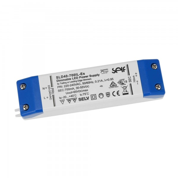 LED Netzteil Konstantstrom dimmbar / 700mA / 30-55VDC 40W