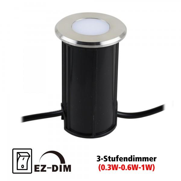 "VBLED LED Bodeneinbauleuchte ""Callis"" Warmweiß 1W 12V EZDIM"