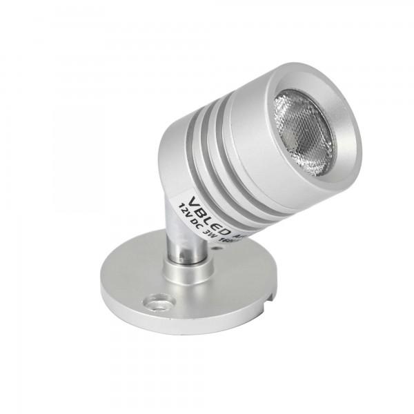 """LED Aufbaustrahler """"ESKINAR"""" LED Wand-/Deckenleuchte 3000K 3W, 12VDC"""