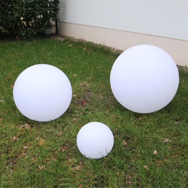 3er Set RGB-WW Ball Kugelleuchte 20CM,40CM,50CM mit Netzteil für Außen IP68 Wasserdicht
