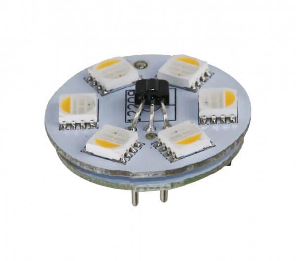 LED Leuchtmittel RGB+WW Stiftsockellampe - G4 - 0,8W