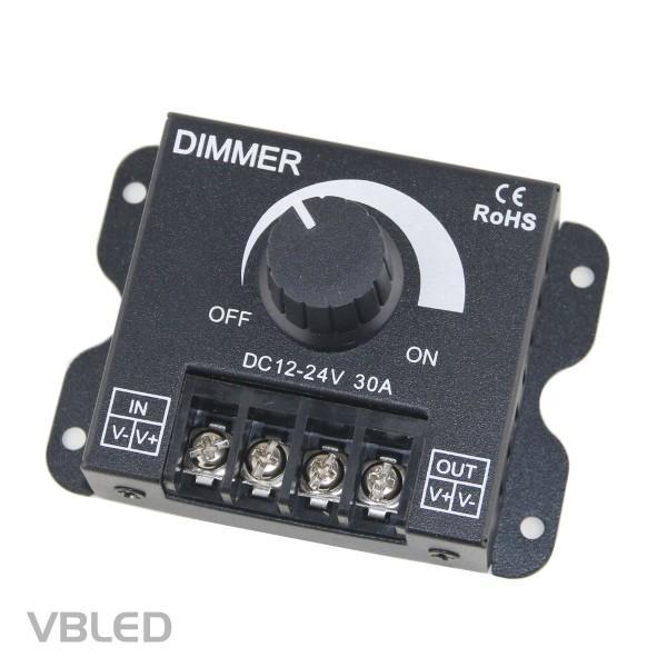 LED Drehdimmer 12-24V DC 24A