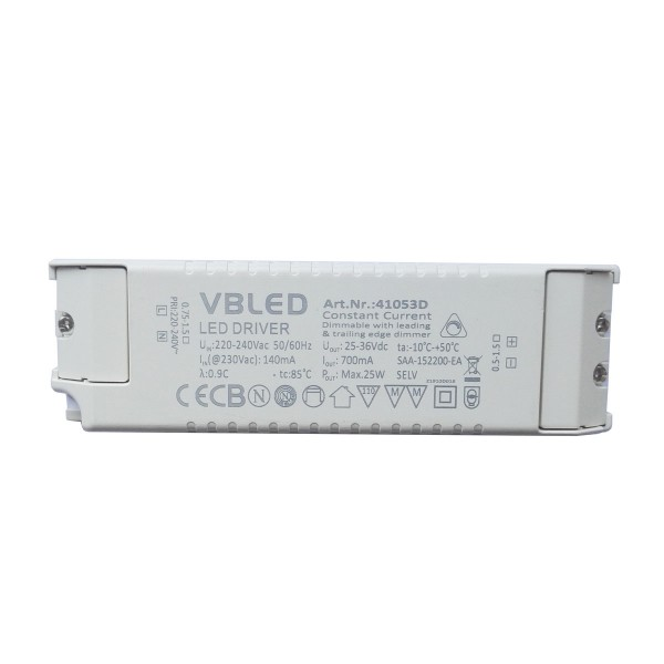 LED Netzteil Konstantstrom / 700mA / 17-25W