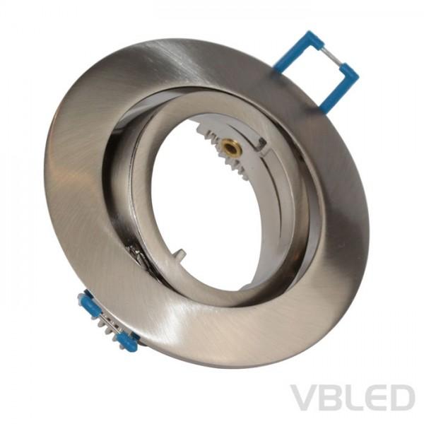 LED Einbaurahmen aus Aluminium - silber Optik - rund - gebürstet - schwenkbar