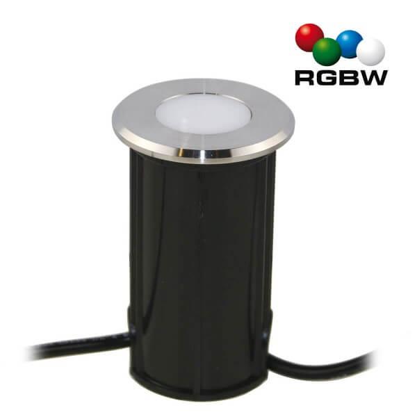 """VBLED LED Bodeneinbauleuchte """"Callis"""" RGB+Warmweiß 1W 12V AC/DC"""