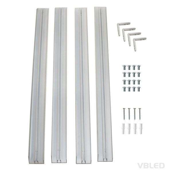 Aufputz-Rahmen für LED Panel (62 cm x 62 cm) schneller und einfacher Aufbau