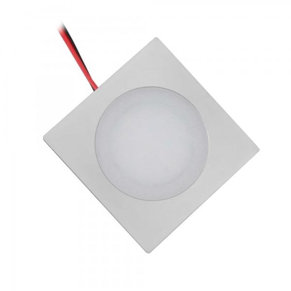 LED Einbauleuchte slim 3000K - 12VDC 0,9W - ultraflach eckig