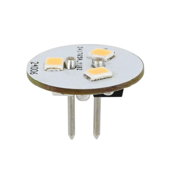 G4 LED Leuchtmittel / 3 LEDs - 12V AC/DC - Warmweiss - 1W