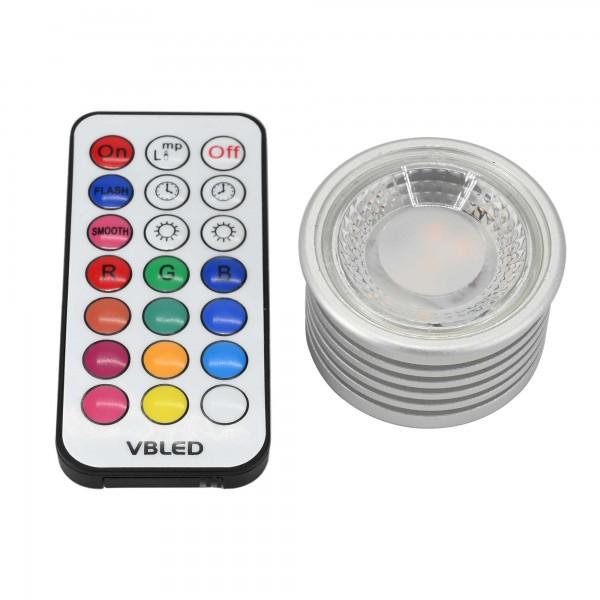 RGB+WW Leuchtmittel LED Module inkl. Remote - MR16/GU5.3 -3000K 7W