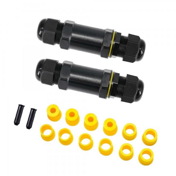 2er Kabelverbinder Wasserdicht IP68 Verbindungsbox Verbindungsmuffe 5-polig für Ø4-14mm